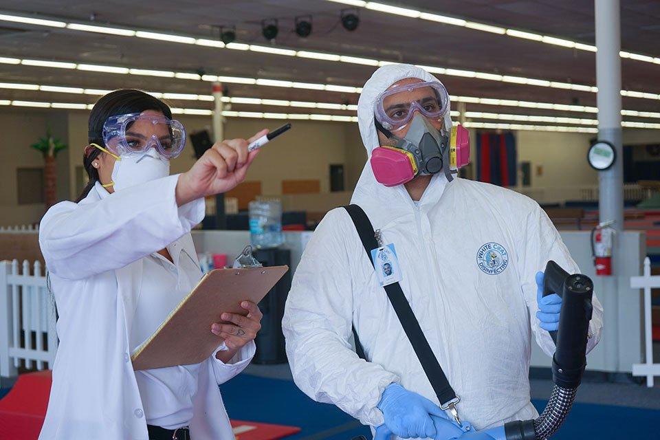White-Coat-Disinfecting